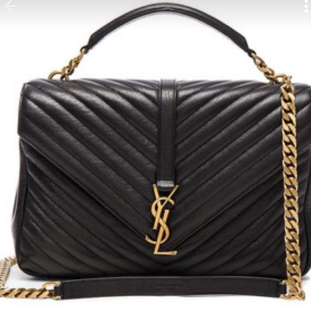 53002afde889 YSL  monogram college bag large with gold chain