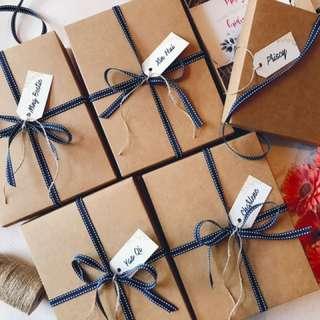 Kraft Box with Lid Bridesmaid kits Customised gifts