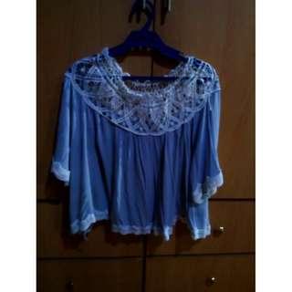 Light blue batwing shirt
