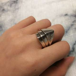 Sterling silver armor ring
