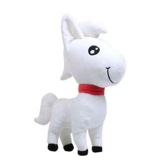 Boneka kuda putih jd.id