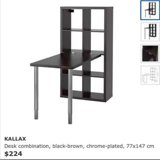 Ikea Kallax Desk And Shelves Combination