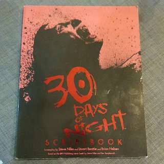 30 Days of Nights Scriptbook