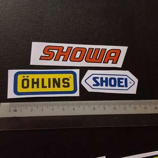 Bike Motorcycle Mini Sticker Stickers