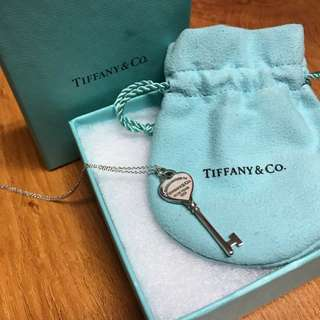 TIFFANY & CO Heart Key Pendant Necklace