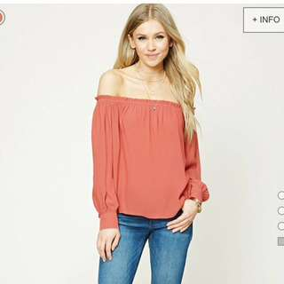 BRAND NEW*** Ruffled Off-the-Shoulder Top