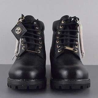 Timberland 6 Inch Premium Black Horween Football Leather Limited Boot - A176b
