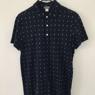 Club Monaco Short Sleeve Button Up