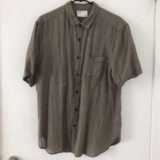 Urban Outfitters Short Sleeve Button Up With Pocket