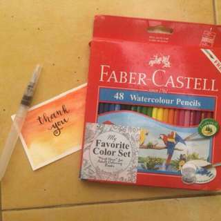 FABER CASTELL 48 WATERCOLOUR PENCIL