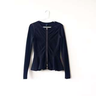 Marciano bandage peplum sweater / jacket