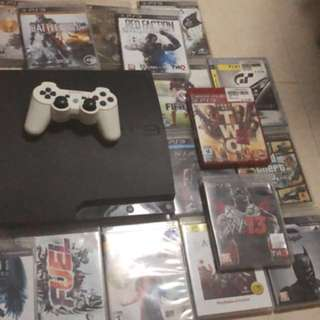 Ps3 with 21 games and 1 controller.