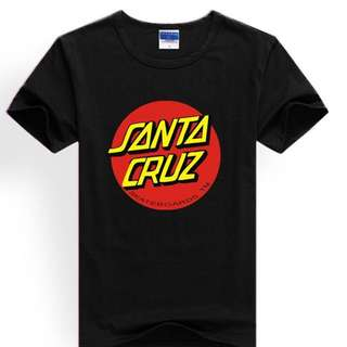 *FREE SHIPPING! Santa Cruz Short-Sleeved Cotton Tee