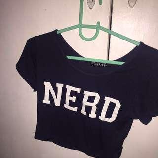 Nerd crop top shirt