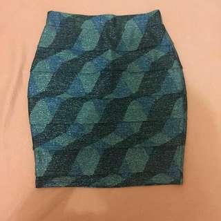 Glittery Pencil Skirt