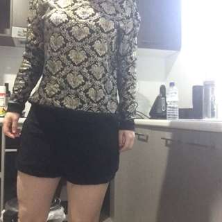Lace shorts and jumper