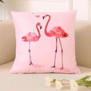 Flamingo throw pillow pink throw pillow girly throw pillow