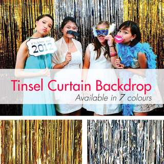 Tinsel Curtain Party Backdrops