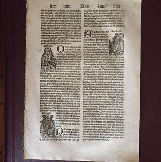1496 Nuremberg Chronicles Page