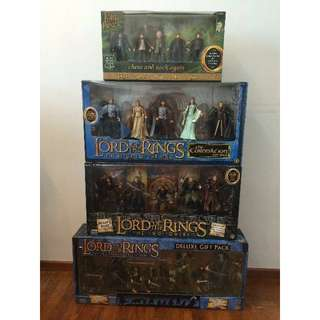 LOTR 4 x  Lord of The Rings Gift Pack all MISB Frodo Hobbit Gandalf. What you see is what you get.