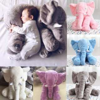60cm Big Size! Stuffed Cushion Kids Baby Sleeping Pillow Toy Elephant