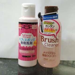 🚚 (brush cleaner only) Daiso makeup puff detergent & brush cleaner
