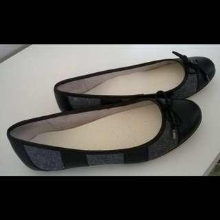 MIMCO Black/Grey Ballet Flats