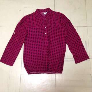 REPRICED! 3/4 Maroon blouse