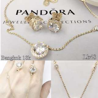 Pandora set - earings and necklace