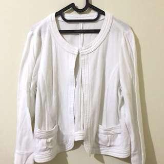 White blazer size XL