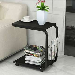 Simple and Neat Black Side Table