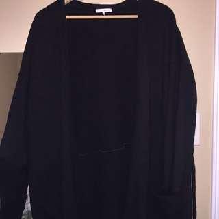 oak and fort long black jacket