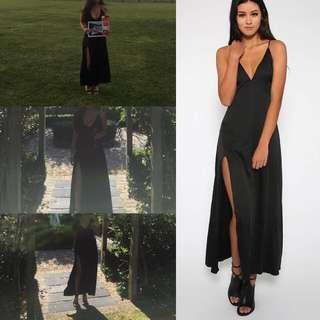 Black Silk Formal Dress Size XS