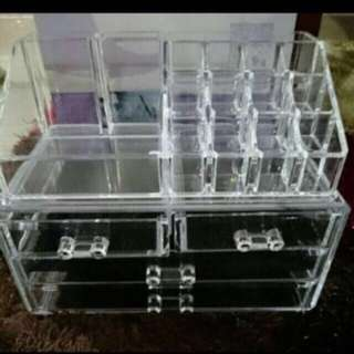 clearing at $20 only!brand new acrylic makeup organizer (BIG SET)