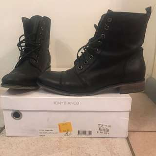 Tony bianco army style boots flat-size 8.5