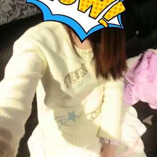 Cinderella Magic Yellow Kawaii Cutie Elastic Sweater
