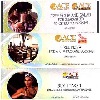 ACE WATER SPA VOUCHERS