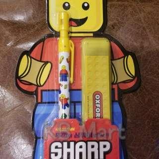 (包郵)韓國Oxford lego人仔款可再刨鉛芯筆連鉛芯
