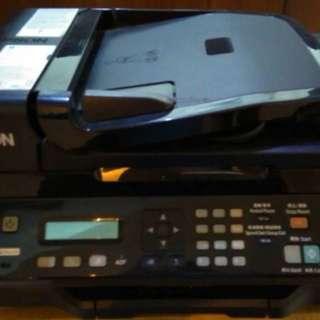 🚚 EPSON550連續供墨印表機,傳真列印掃描影印多功能事務機