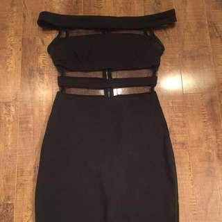 Fashion Nova Off The Shoulder Mesh Dress