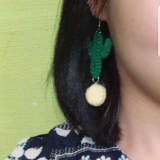 Crochet Unique  Cactus Earrings 🌵🌵🌵