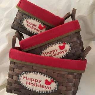 收納盒 聖誕 baskets
