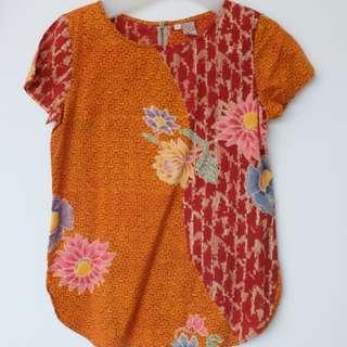Red Flower Batik