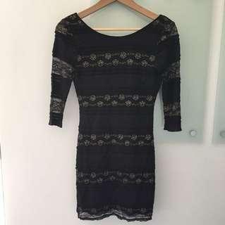 Ally Open Back Lace Dress