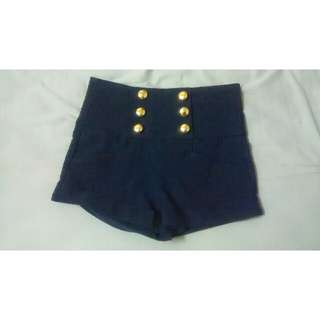 Supre Navy Highwaisted Shorts