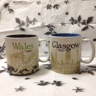 英國🇬🇧星巴克威爾斯格拉斯哥WALES GLASGOW城市杯城市馬克杯 Starbucks