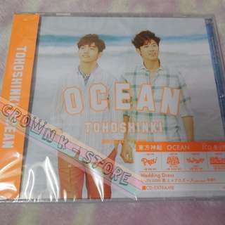 [CRAZY DEAL 60% OFF FROM ORIGINAL PRICE][READY STOCK]TVXQ DBSK TOHOSHINKI JAPAN OCEAN SINGLE CD ONLY KOREA VERSION (NO POSTER) SEALED ! NEW!OFFICIAL ORIGINAL FROM KOREA (PRICE NOT INCLUDE POSTAGE)PLEASE READ DETAILS FOR MORE INFO