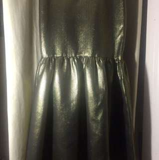 BNWT bcbg formal Gold skirt