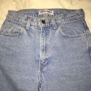 american apparel heavyweight lightwash jeans