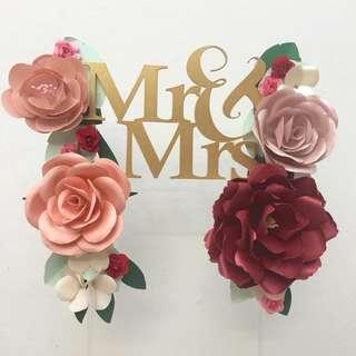 Paper Flower Cake Topper : Acrylic font